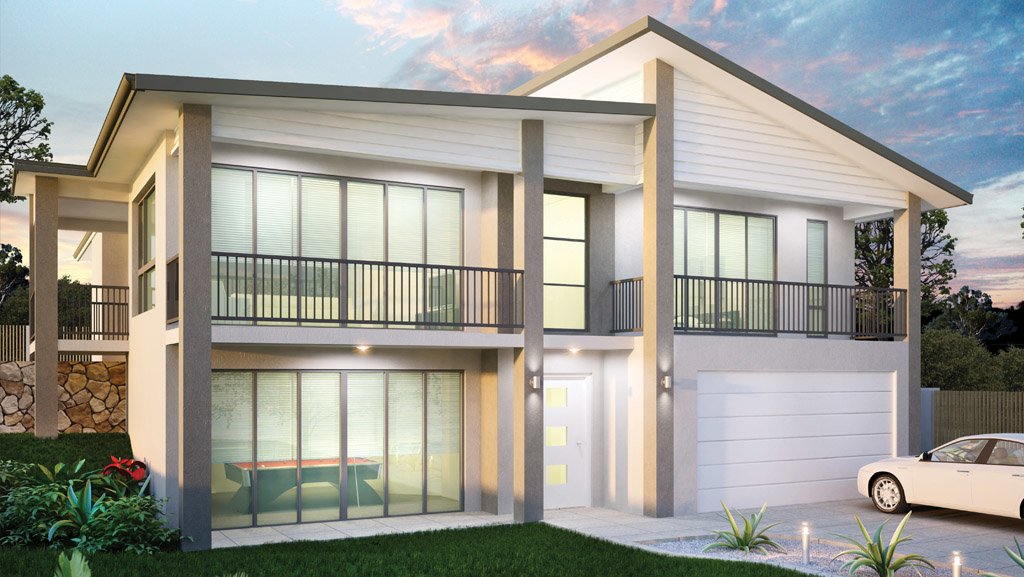 Sloping block home designs chelbrooke homes for Home designs for sloping blocks